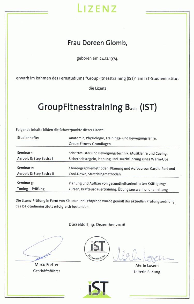 Lizenz Group-Fitnesstraining B