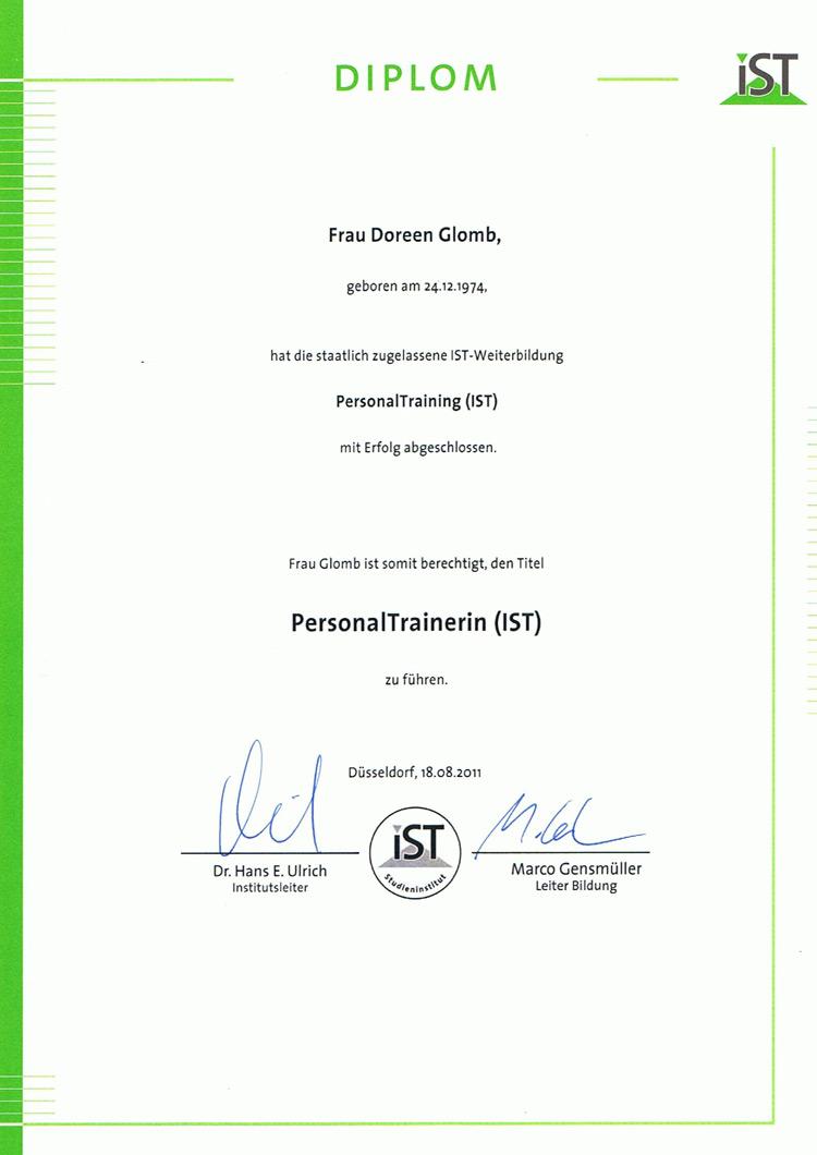 Personal Trainer Diplom