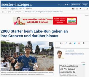 Lake-Run Möhnesee im Westfälischen Anzeiger